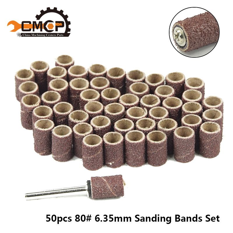 New 50pc Sanding Sleeves diameter 6.35mm Woodcarving Fits FOR Rotary Tools-in Abrasive Tools from Tools