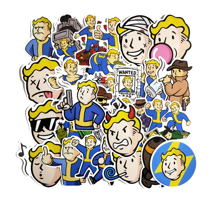 TD ZW  29Pcs Fallout Game Stickers Decal For Snowboard Laptop Luggage Car Fridge DIY Styling Vinyl Home Decor Pegatina