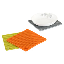 Baking Silicone Pyramid Pan Anti-scald Cuisson Insulation Mats Pad Honeycom Moulds Microwave Oven Tray Sheet mat Kitchen Tools microwave oven baking tray cold rolled plate porcelain veneer insulation half hour kitchen baking kitchenware wholesale