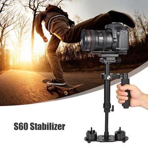 Image 4 - S60 mini estabilizador de mão, para câmera de vídeo, anti balanço, steady, para dslr, acessórios para câmera de fotografia, estabilizadores, adereço de câmera