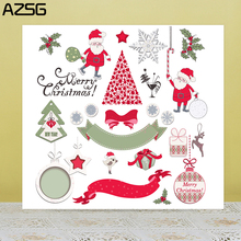 AZSG Merry Christmas Santa Claus gifts Clear Stamps For DIY Scrapbooking/Card Making/Album Decorative Silicone Stamp Crafts
