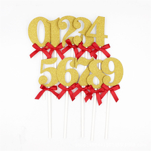 10PCS/Set Happy Birthday Cake Topper Wedding Digital Card Party Decoration Gift 0-9 Number