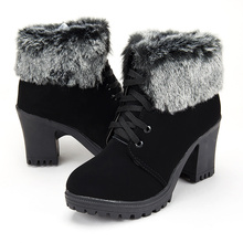 Fashion ankle boots women shoes platform high heels boots la