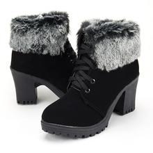 Fashion ankle boots women shoes platform high heels boots la