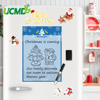 Flexible Christmas Drawing Board Toys Fridge Magnets Writing Message Boards Magnetic Refrigerator Memo Pad Kids Gifts A4 Size 4pcs lot flexible fridge magnets whiteboard kids reusable drawing writing message board note pad refrigerator magnetic sticker