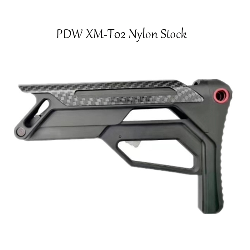 PDW XM-T02 Nylon Tactical Toy Gun Accessories Stock Gel Blaster Upgrade Extended Stock Upgrade Part Replacement Accessories 2