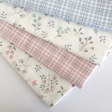 100% algodão impresso pano floral tecido retalhos vestido para acessórios materiais roupa toalha de mesa bordado pelo medidor