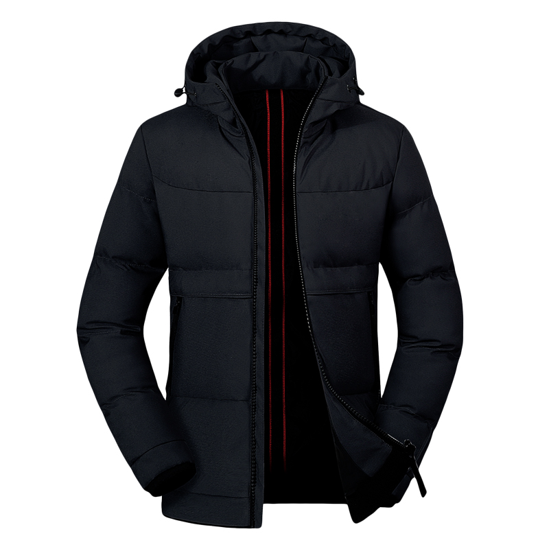 Warm Jacket Parka Overcoat Mens Windbreaker Male Thick Casual New Man Solid Jaqueta Zipper title=