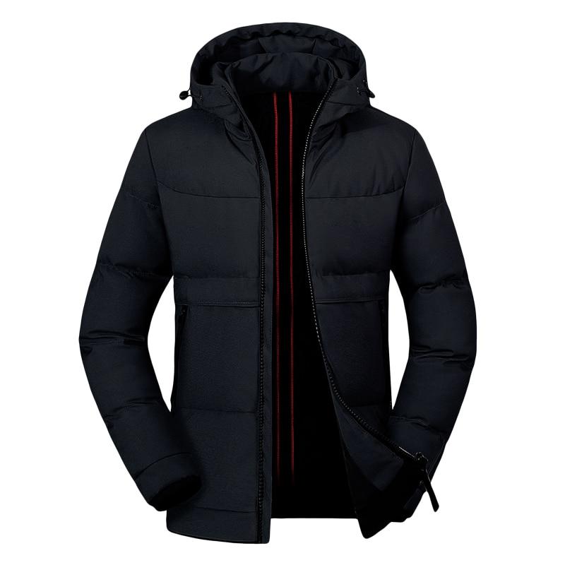 Winter Coat Mens 2019 Casual Male Parka Thick Warm Jacket Mens Solid Windbreaker Man New Overcoat Zipper Coat Jaqueta Masculina