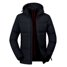 Winter coat Mens 2019 casual Male Parka Thick Warm Jacket Mens Solid Windbreaker