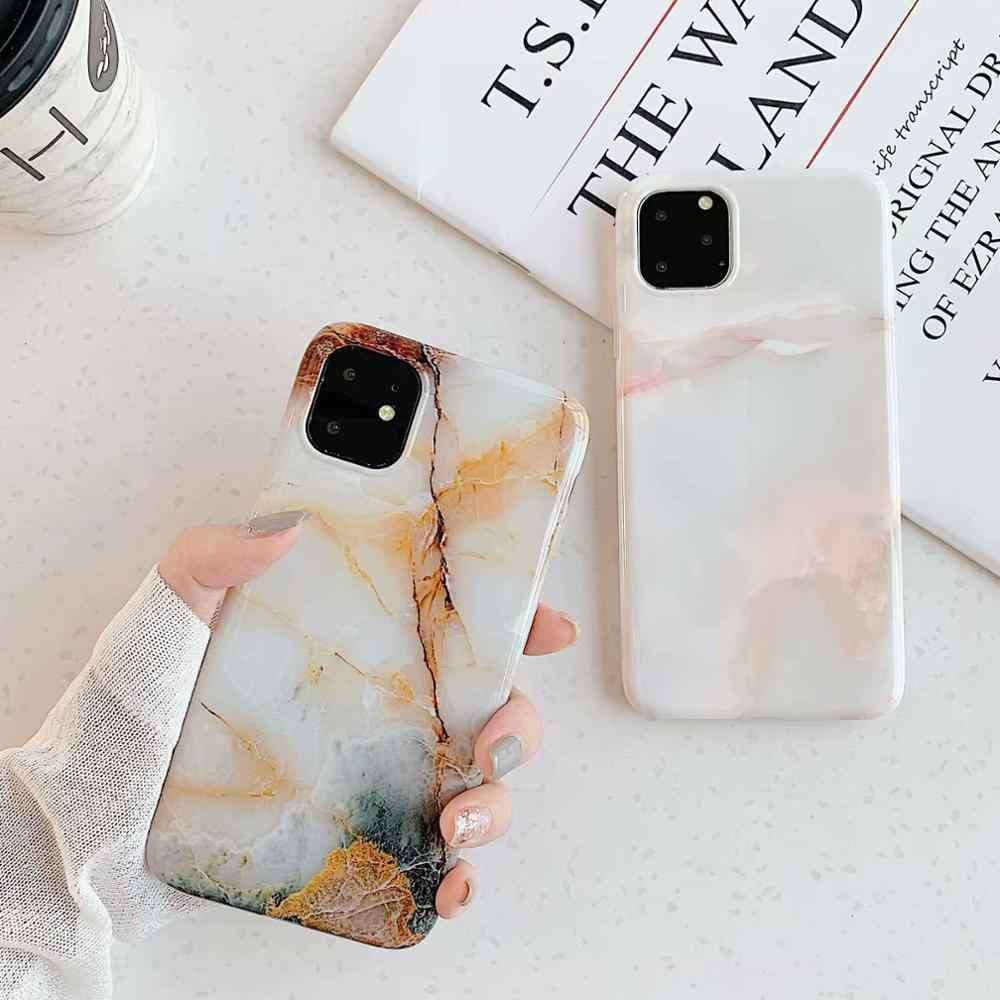 Estuche de mármol para iPhone 11 Pro Max estuche de silicona suave estuche brillante para iPhone 11 X XS MAX XR 8 7 6 6S Plus