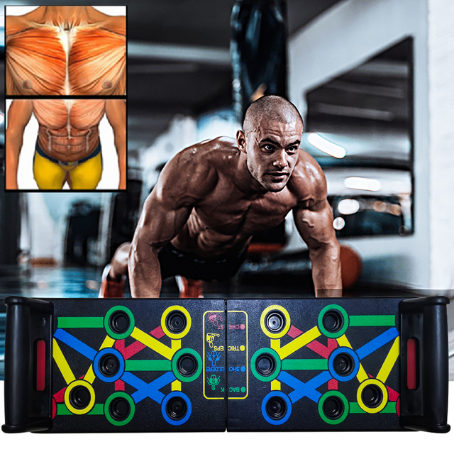 14 in 1 Push-Up Rack Board Training Sport Workout Fitness Gym Equipment 2