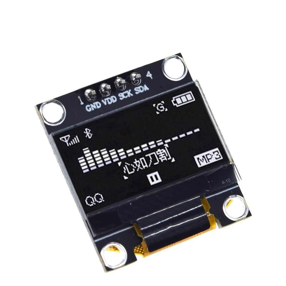 0.96 인치 oled IIC 직렬 백색 OLED 디스플레이 모듈 128X64 I2C SSD1306 12864 LCD 스크린 보드 GND VDD SCK SDA Arduino 용