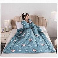 Wearable jogar cobertor crianças saco de dormir nova fruta edredon com enchimento cama quente muti use cobertura de cama tv cobertor sofá trabalho colchas|Edredons| |  -