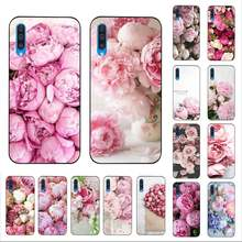 LVTLV Elegant Pink Purple Peony On the Vase Luxury Phone Cover for Samsung A10 20s 71 51 10s 20 40 50 70 A30s cover(China)