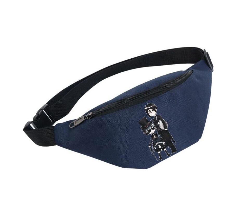 Waist Bag Women Belt Waterproof Chest Handbag Unisex Fanny Pack Ladies Waist Pack Belly Bags For Black Panther