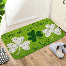 Floor Mat Absorbent Non-Slip Floor Mat Four-Leaf Clover Non-Slip Bathroom Mat Kitchen Toilet Home Decorative Door Mat #YL5 cheap ISHOWTIENDA Adults Anti-Slip Persian Finished Carpet (piece) PLANT Embroidered Pastoral normal Hallway Machine Made 100 Polyester