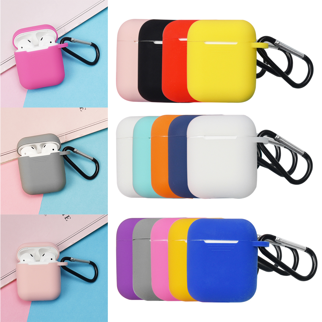 Mini Soft Silicone Case For Apple Airpods Shockproof Cover For Apple AirPods Air Pods Earphone Cases Ultra Thin Protector Case