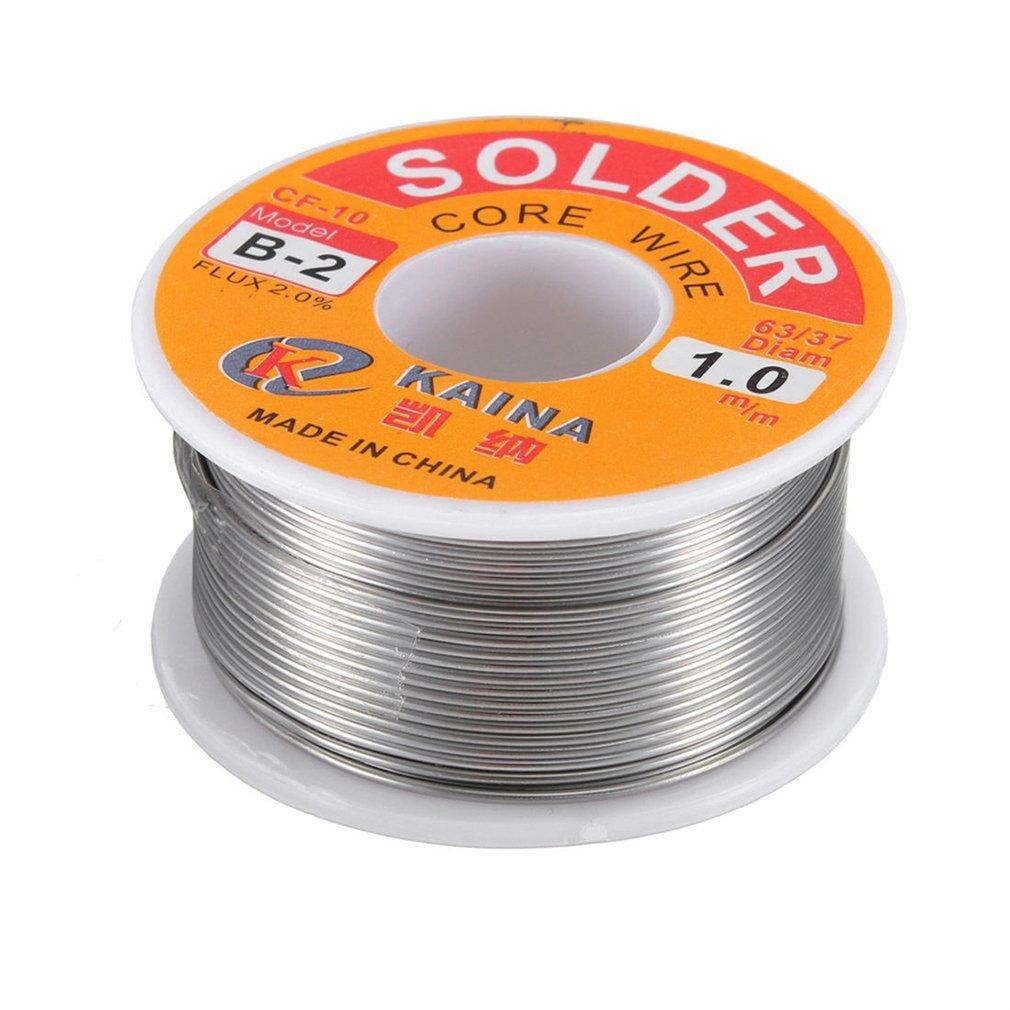 New Welding Iron Wire Reel 100g/3.5oz FLUX 2.0% 1mm 63/37 45FT Tin Lead Line Rosin Core Flux Solder Soldering Wholesale