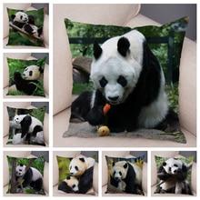 Cushion-Cover Pillowcase-Pillow-Case Sofa Plush-Decor Animal-Printed Lovely Home Panda
