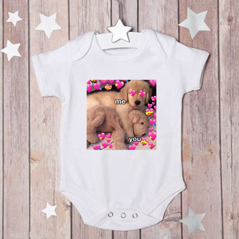 NEWBABY Husky Life Newborn Baby Short Sleeves Romper Bodysuit For 0-24m Baby