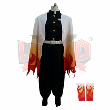 Cosplaylegend Anime Demon Slayer: Kimetsu no Yaiba Rengoku Kyoujurou Cosplay Costume Kimono adult costume custom made