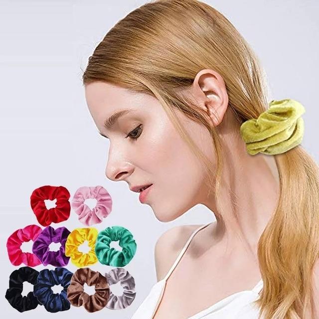 Velvet Scrunchie Hairband For Women Girls Elastic Hair Rubber Bands Hair Accessories Headband Gum Hair Tie Rope Ponytail Holder 3