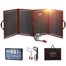 Dokio-Panel Solar monocristalino portátil de alta potencia para RV, barco y viajes, 200W(50Wx4), Flexible, plegable, 200W