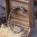 Нержавеющая сталь скандинавский Викинг Norse Дракон Мужские часы наручные браслеты на запястье с викингом деревянная коробка