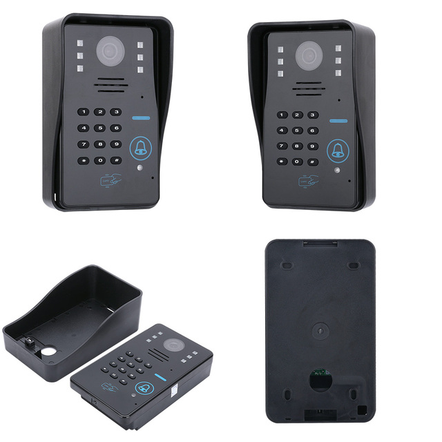 GAMWTER 7 inç Wifi kablosuz RFID görüntülü kapı telefonu kapı zili interkom sistemi kablolu AHD 1080P kamera