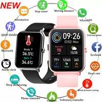 LIGE-reloj inteligente para hombre y mujer, pulsera completamente táctil, rastreador deportivo de ritmo cardíaco, resistente al agua, para Android e IOS, 1.69