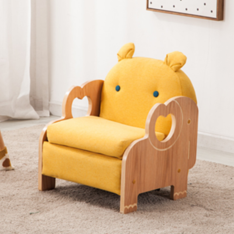 Children's Sofa Seat Boy Solid Wood Baby Single Double Set Kindergarten Animal Cartoon Back Small Sofa Woman