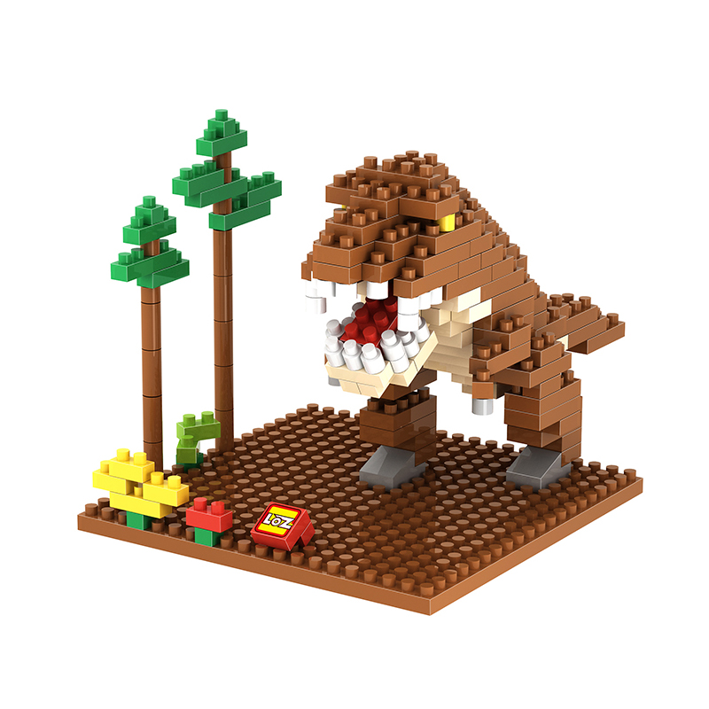 Various Image Small Particle Pixel Micro Drill Building Block Assembling Toys Dinosaur Minecraft Building Blocks Christmas Boys in Blocks from Toys Hobbies