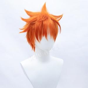 Image 5 - HSIU Anime Haikyuu!! Shoyo Hinata Cosplay Wig short orange Costume Play Wigs Halloween Costumes Hair