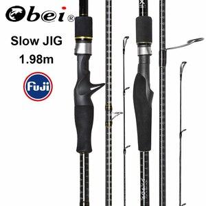 Image 1 - Obei MASTER Sea Boat Slow Jigging Fishing Rod 100 500G Travel Spinning Casting FUJI Lure Rod 30 80IB