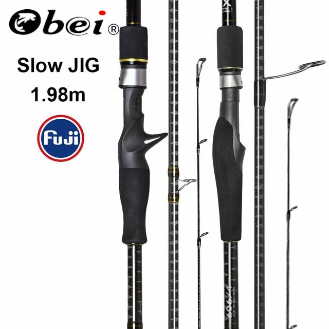 Obei MASTER Sea Boat Slow Jigging Fishing Rod 100 500G Travel Spinning Casting FUJI Lure Rod 30 80IB