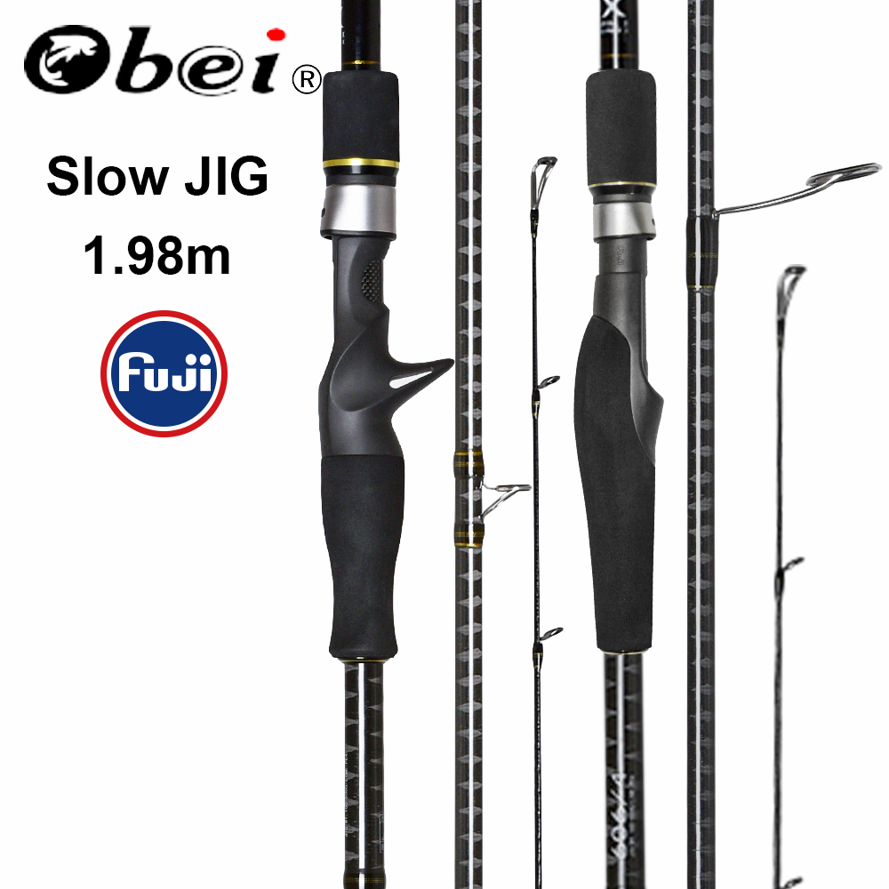 Obei MASTER Sea Boat Slow Jigging Fishing Rod 100-500G travel Spinning Casting FUJI lure rod 30-80IB