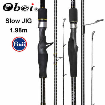 Obei MASTER Sea Boat Slow Jigging Fishing Rod 100-500G travel Spinning Casting FUJI lure rod 30-80IB - Category 🛒 All Category