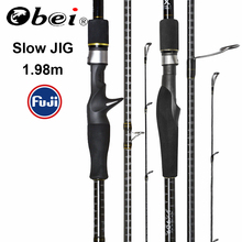 Obei Master Zee Boot Langzaam Jigging Hengel 100 500G Reizen Spinning Casting Fuji Lokken Staaf 30 80IB