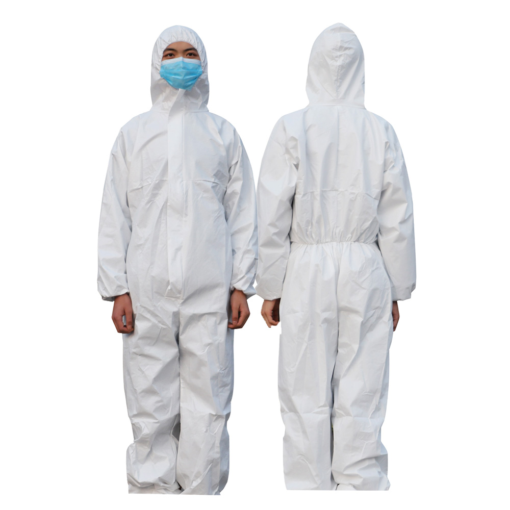 Protective Clothing Breathable Disposable Coveralls Isolation Suit Safety Hooded Suit Dust-proof Antistatic