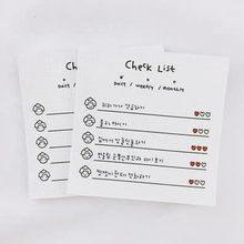 50 arkuszy kreatywny Plan kartki samoprzylepne Student terminarz tygodniowy naklejki notatnik Do zrobienia lista Kawaii pamiętnik szkoła papiernicze