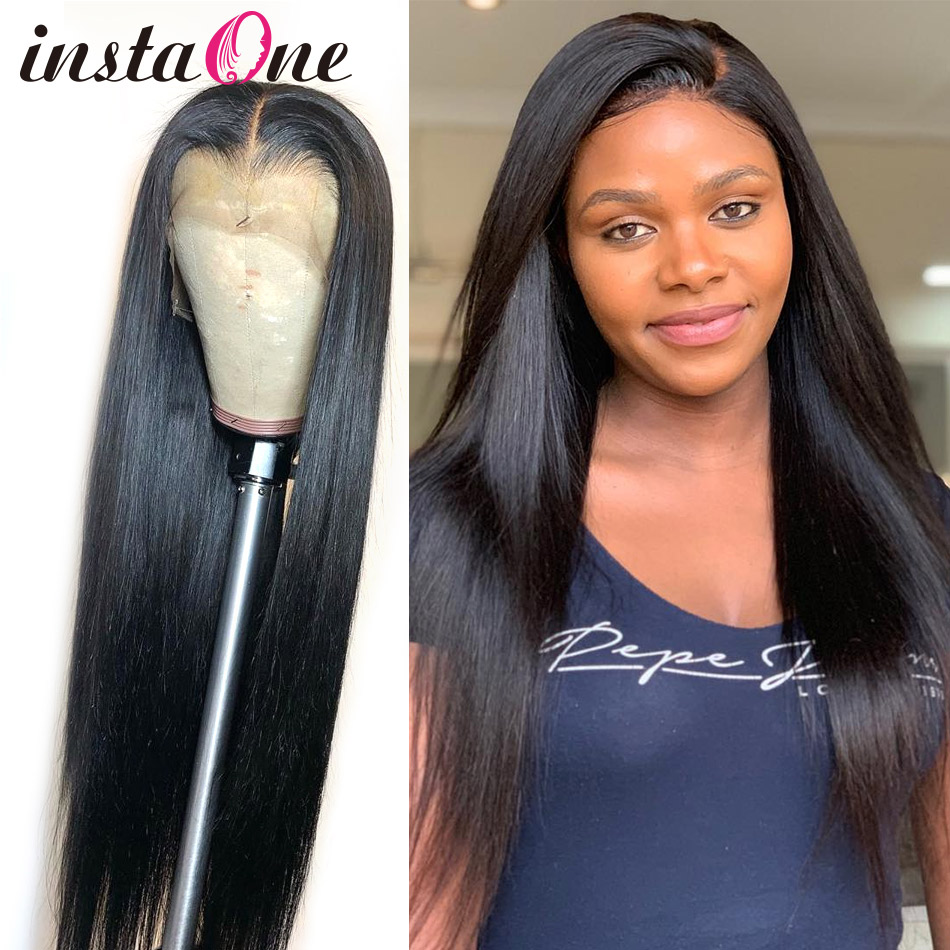 250 Density Long 13x6 Lace Front Human Hair Wigs Brazilian Straight 28 30 Inch 360 Lace Frontal Wig Pre Plucked For Black Women