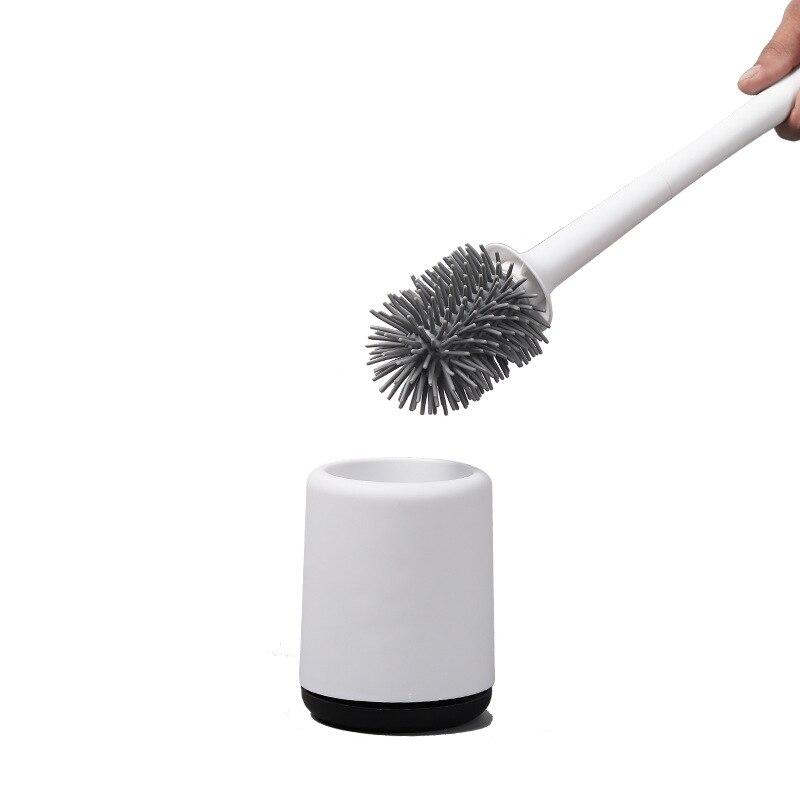 poderoso duravel silicone escova de toalete e titular dreno rapido escova de limpeza ferramentas para wc
