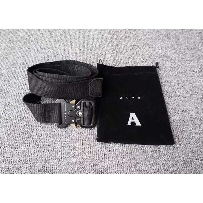 Men Women Belts ALYX Belt Ordinary Canvas Alyx Belt High Quality Metal Buckle  128 Cm Streetwear  Ambush