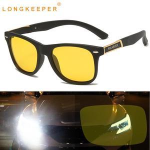 Длинные очки ночного видения, мужские поляризованные солнцезащитные очки для вождения, женские желтые линзы, спортивные очки для рыбалки, с...