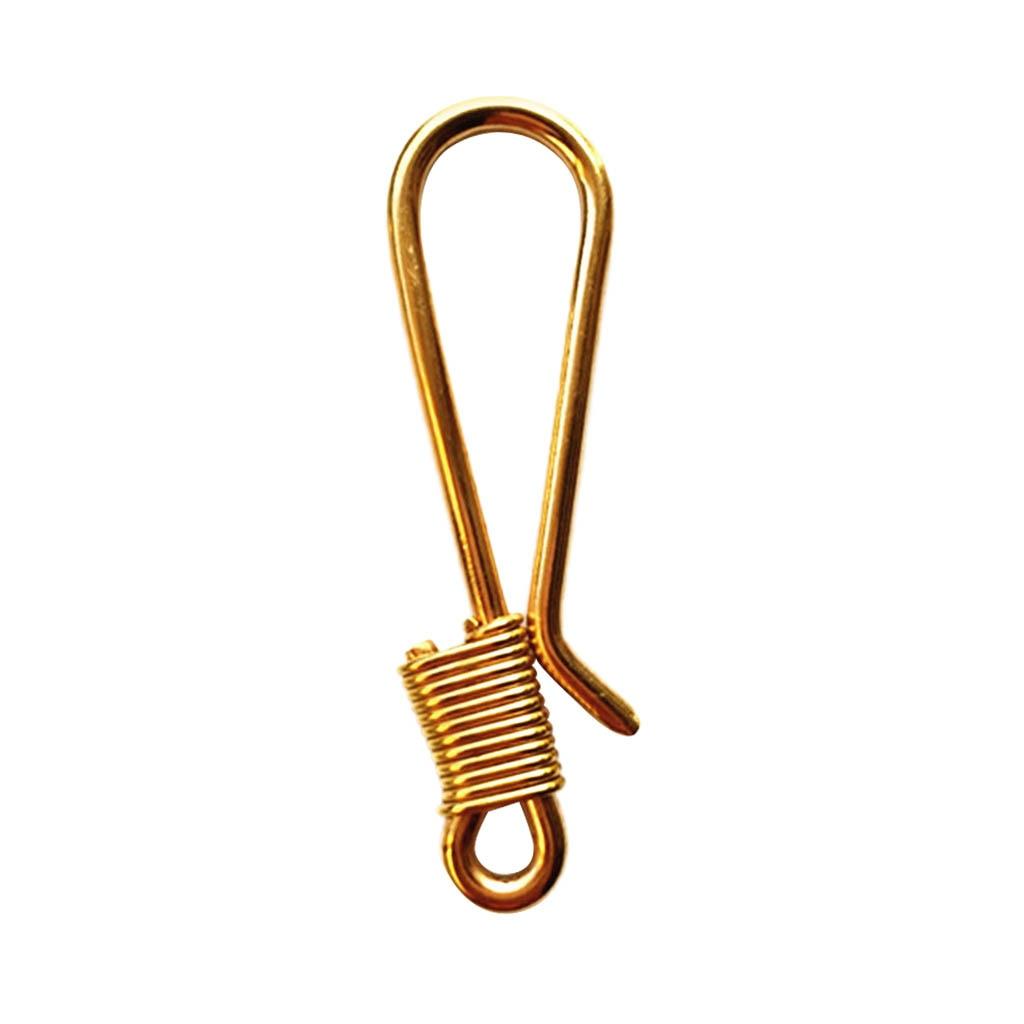 Durable Brass Clip Hook Keychain Keyring For Wallet Handbag Backpack Belt