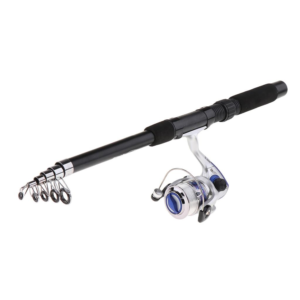 2.1m Ice Fishing Telescopic Fishing Rod Portable Spinning Reel Combos Outdoor Travel Mini Pole Reel Kit vara de pesca|Rod Combo|   - title=