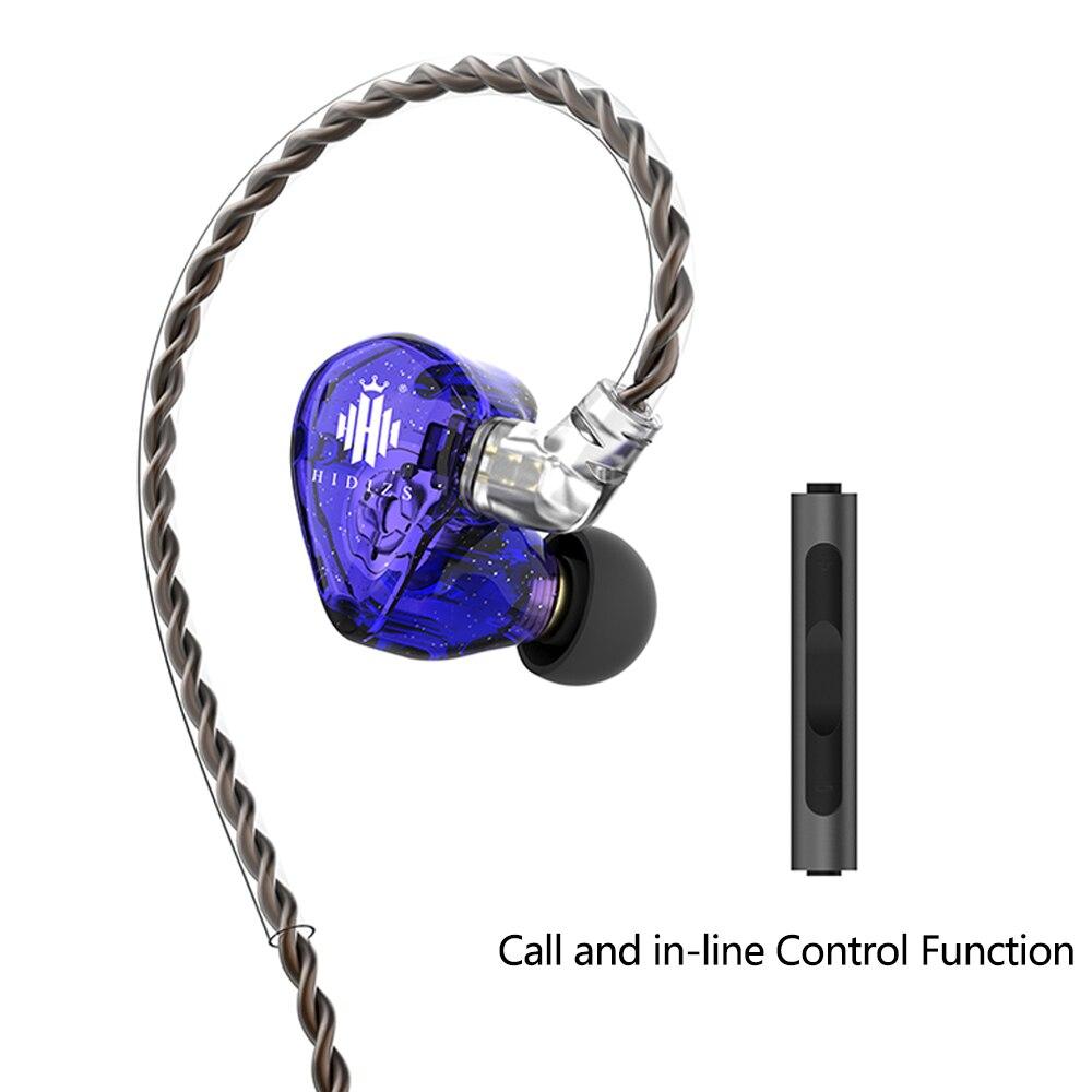 HiFi аудио наушники Hidizs МС1 Радуга в-ухо проводной аудиофилов динамической диафрагмы стерео ием наушники с съемный кабель