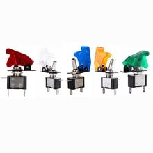 1 шт 12V 20A тумблер красный/желтый/синий/зеленый/белый авто крышка светодиодный светильник SPST переключатель кулисный переключатель Управление вкл/выкл прочный