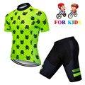 Новинка  комплект из Джерси для мальчиков  Быстросохнущий Детский комплект для велоспорта  спортивная одежда для улицы  MTB  мини-велосипед  д...